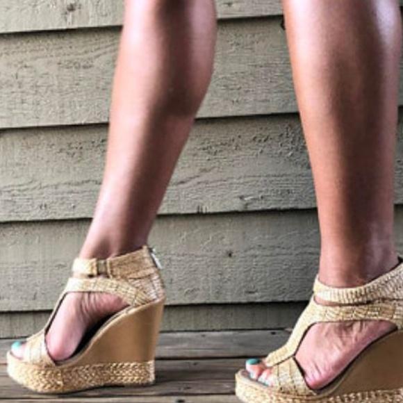 Kenneth Cole Reaction Shoes - Kenneth Cole Reaction Platform Raffia Wedges